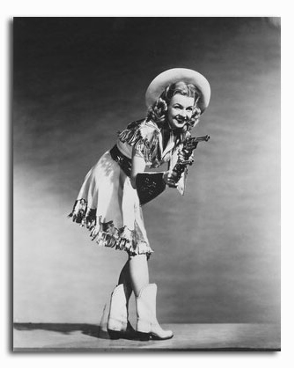 Vintage Art Poster Silver Screen Actress Dale Evans Print A4 A3 A2 A1