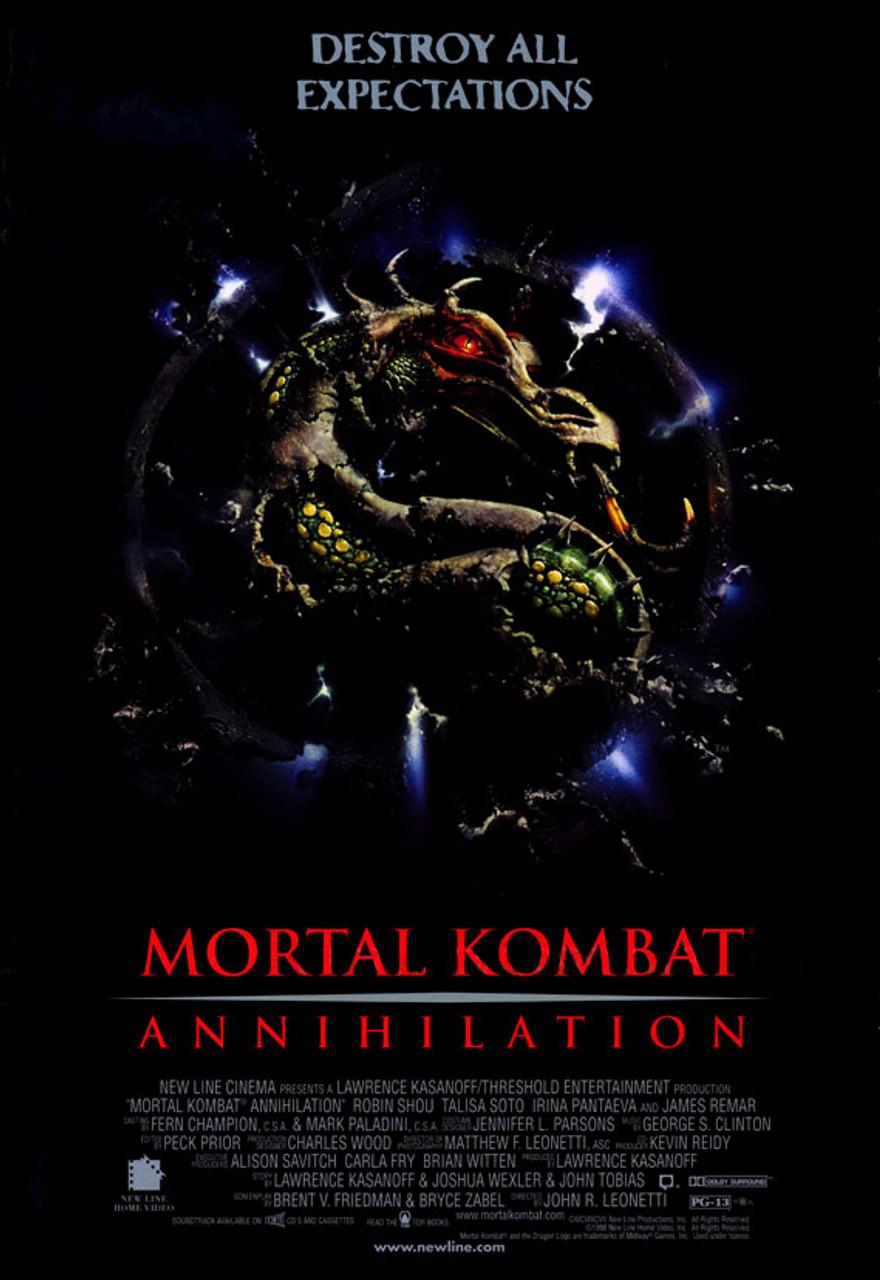 mortal kombat annihilation 1997 original videoplakat