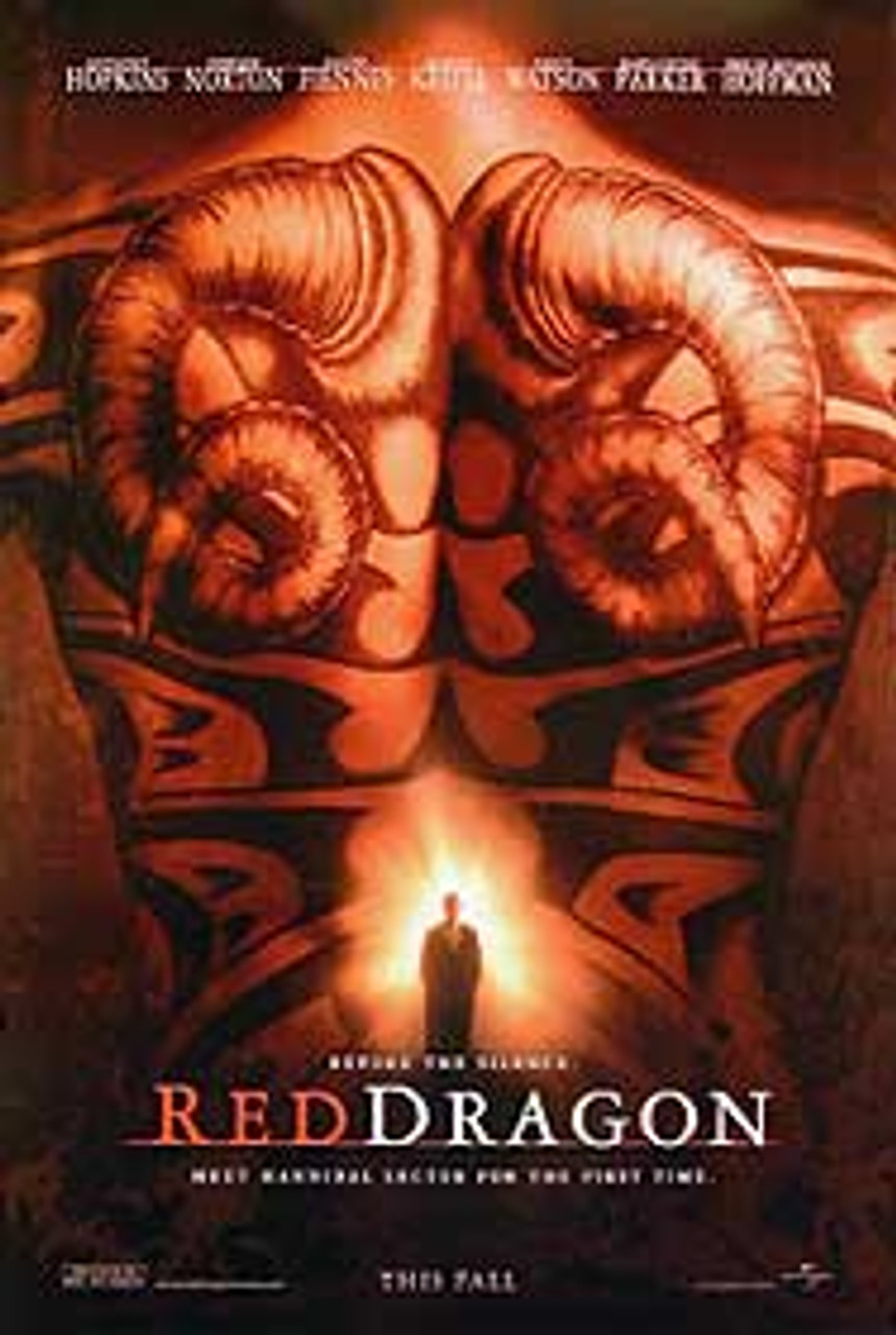 Red Dragon Double Sided Advance Poster Buy Movie Posters At