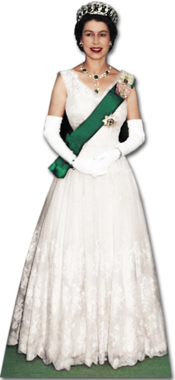 Diamond Jubilee White Dress CelebrityCardboardCutout Queen Elizabeth II