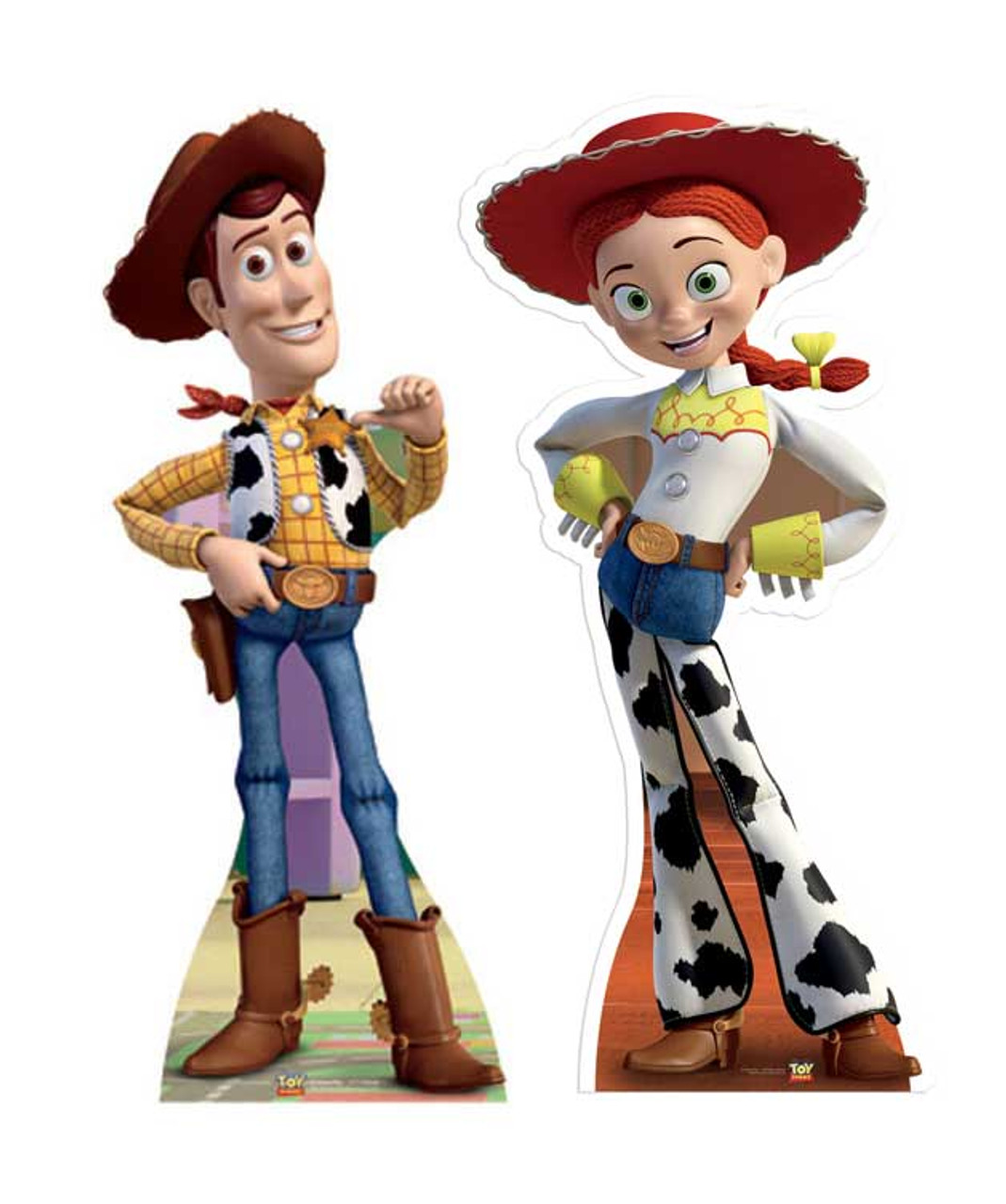 Lifesize Cardboard Cutout Set of Woody and Jessie Toy Story buy ... 7ba6ece0b80