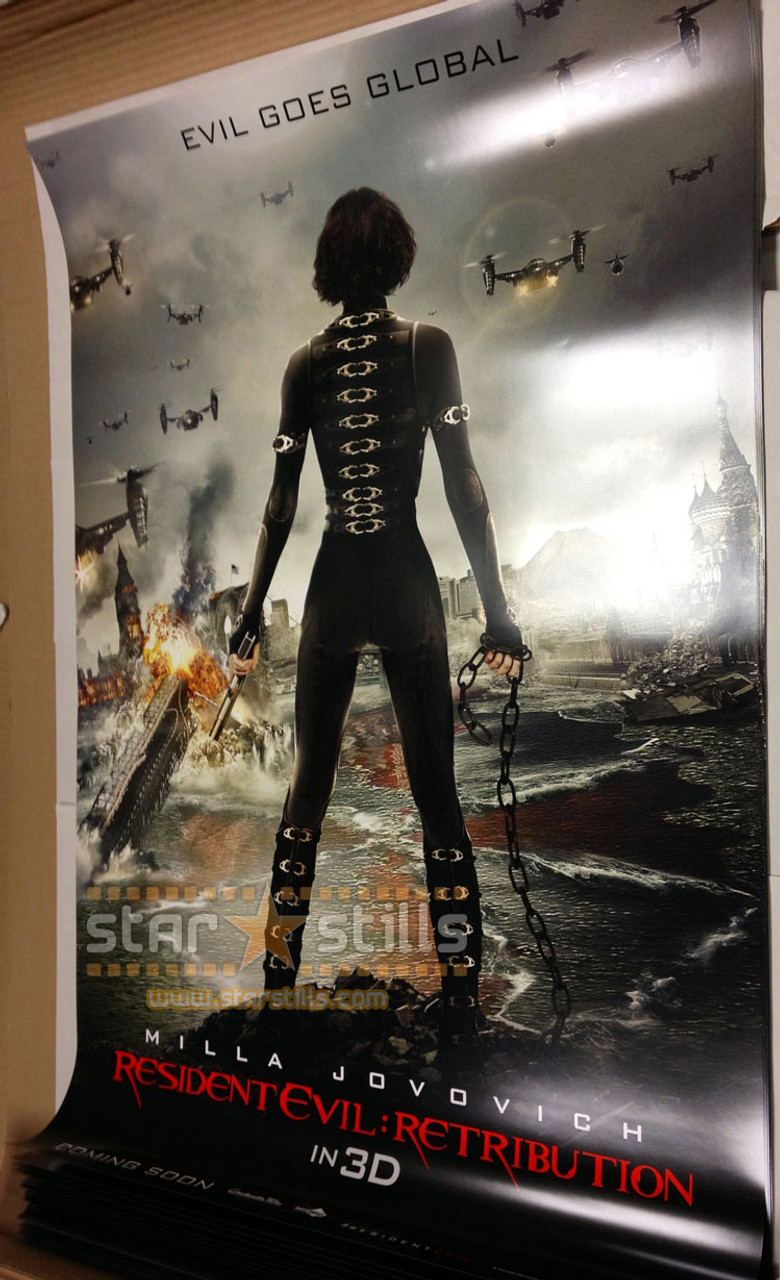 Resident Evil Retribution Poster Double Sided Advance Ss4121