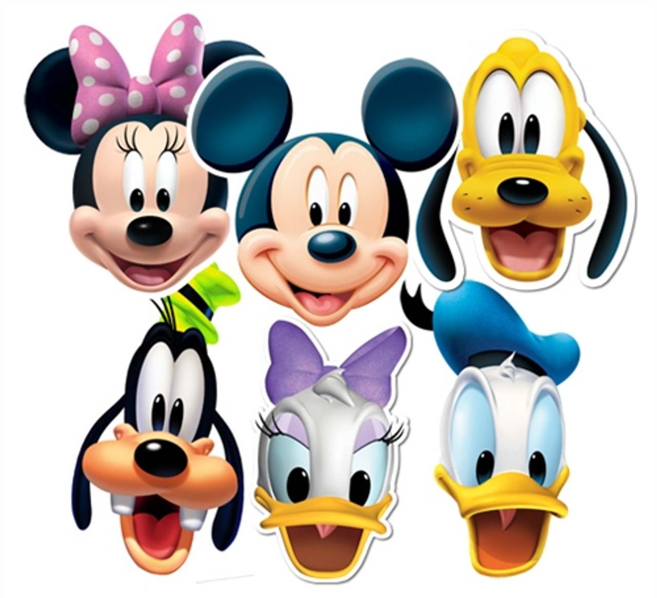 Mickey Mouse And Friends Face Masks Set Of 6 Mickey Minnie