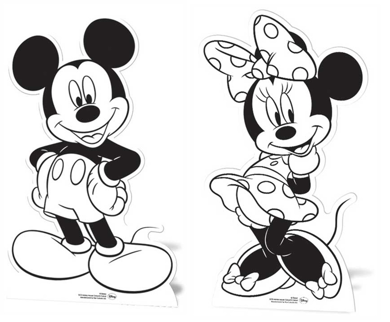 Mickey Mouse Minnie Mouse Set Of 2 Colour And Keep Cardboard Cutouts Buy Disney Cutouts Standups Standees At Starstills Com