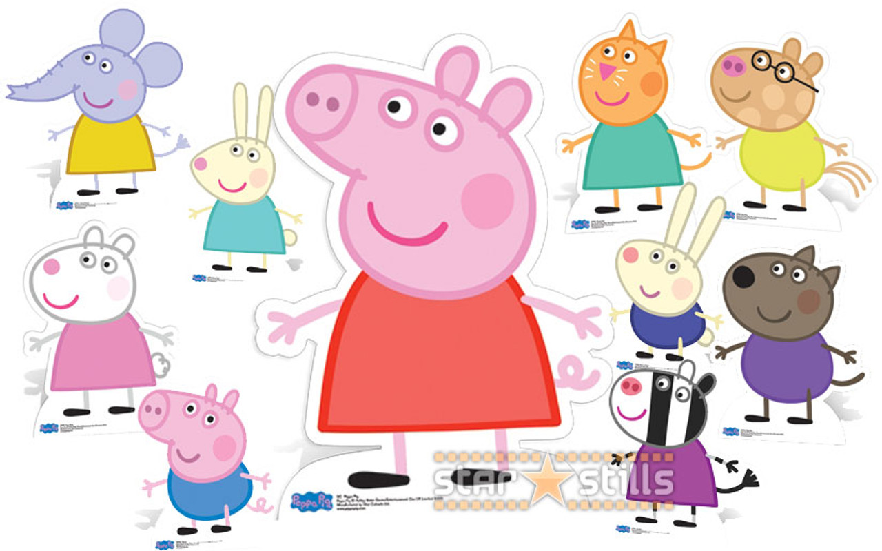 Peppa Pig And Friends Lifesize Cardboard Cutout Collection