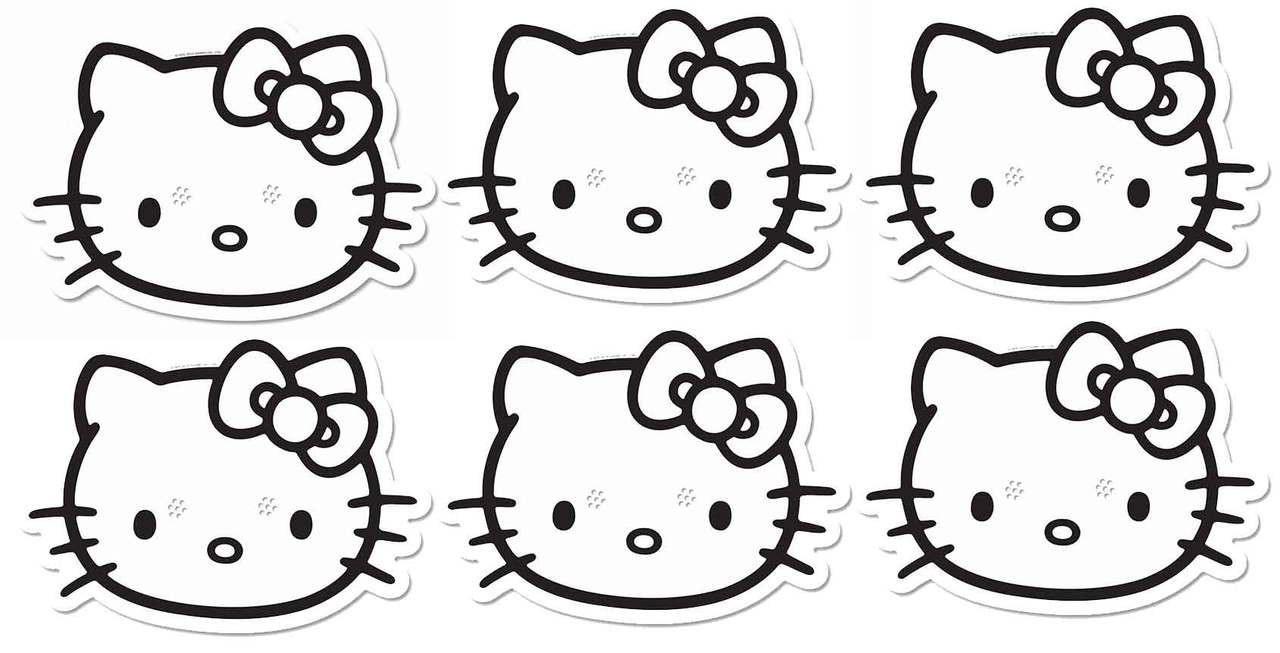 Great for Children/'s Parties and Events! Hello Kitty Single CARD Fun Face Mask