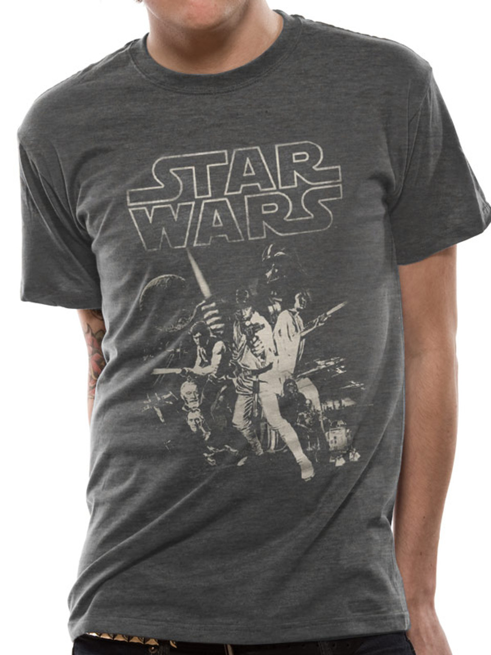 4bb18bbe Star Wars A New Hope Classic Poster Artwork Official Unisex T-Shirt. Buy  Star Wars T-shirts Now at Starstills.com