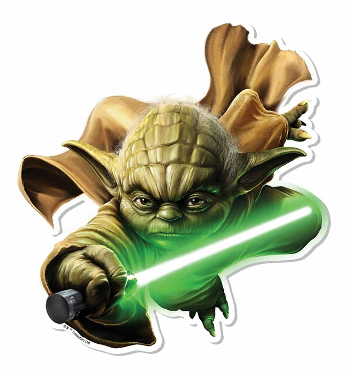 Yoda 3d Effect Star Wars Pop Out Cardboard Cutout Wall Art Buy Pop