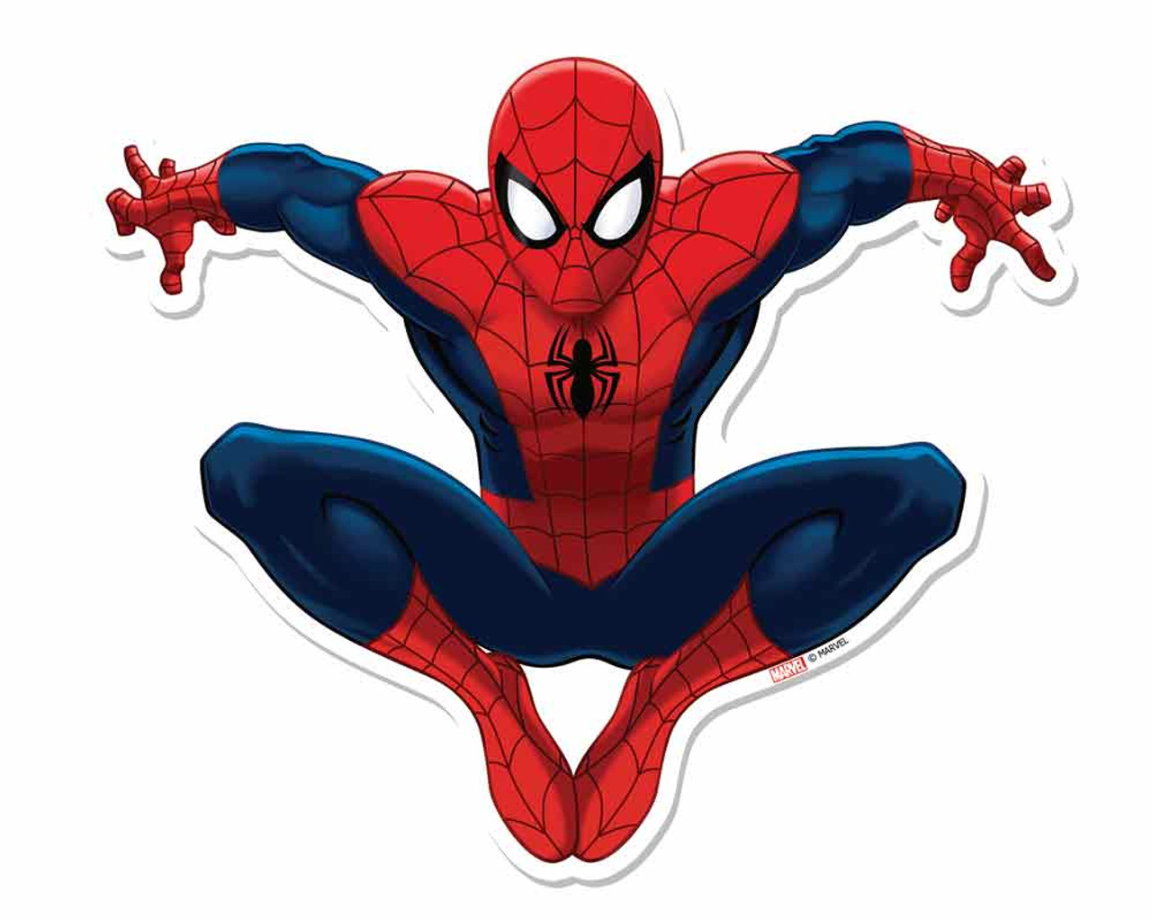 2 Spiderman Cutouts Cardboard Decoration Gift Kids Table Official Marval