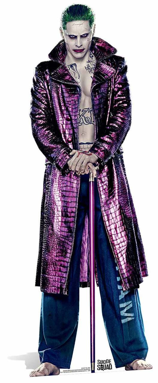 f009d1235bb3 The Joker (Jared Leto) Suicide Squad Lifesize Cardboard Cutout ...