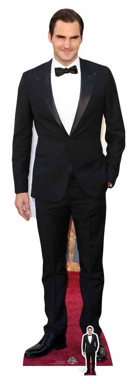 Life Size Cutout Roger Federer Suit