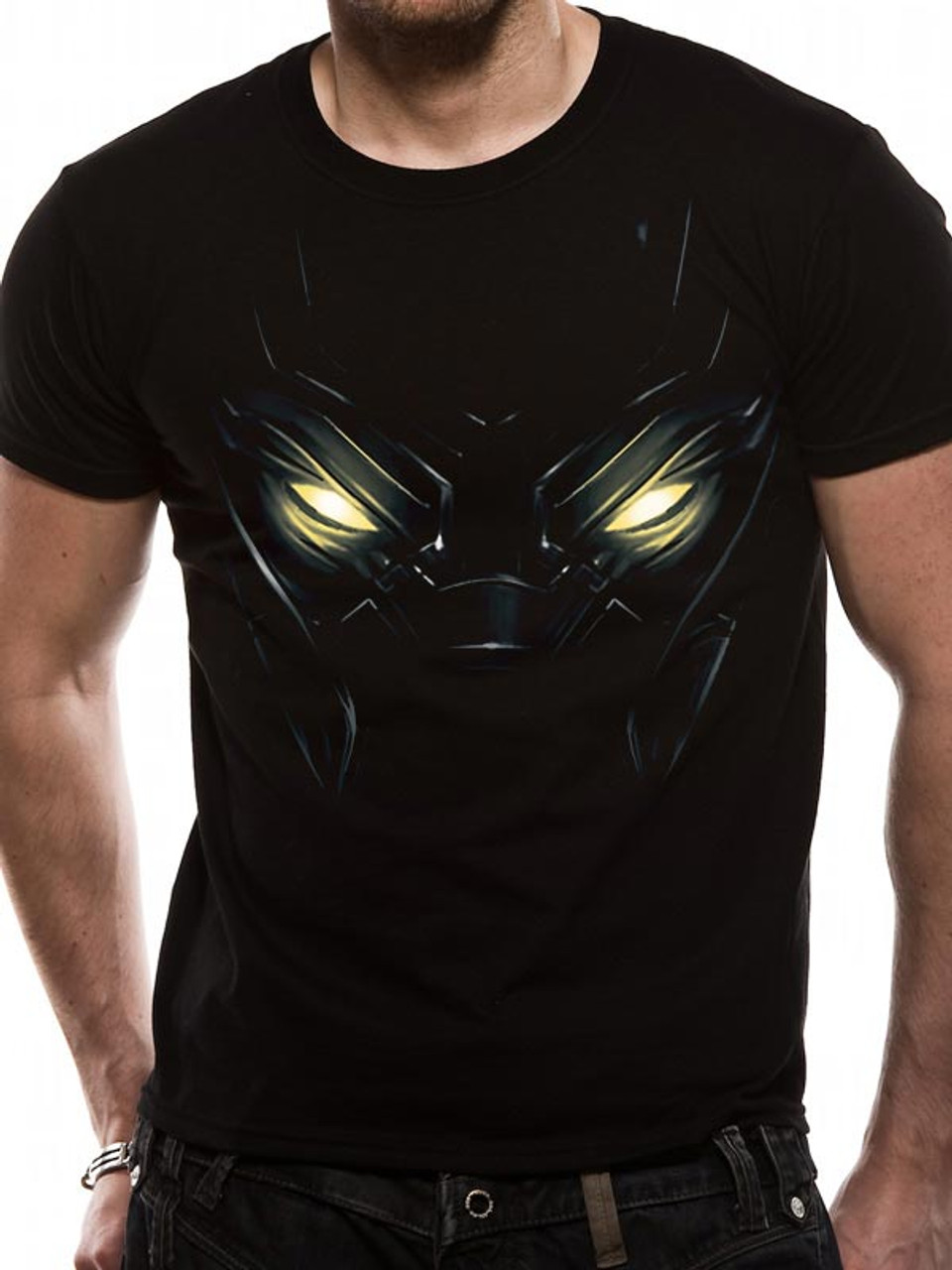 f8e757968e Black Panther Eyes Official Marvel Black Unisex T-Shirt. Buy Marvel T-shirts  Now at Starstills.com