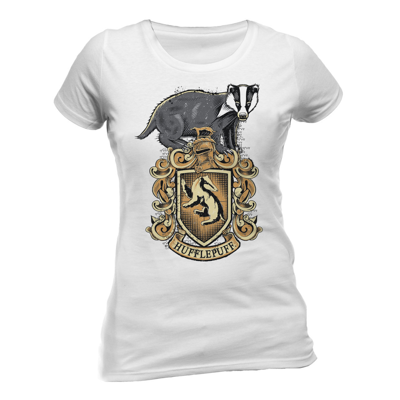 e3d62bff7 Harry Potter Hufflepuff Crest Official Fitted Ladies T-Shirt. Buy ...