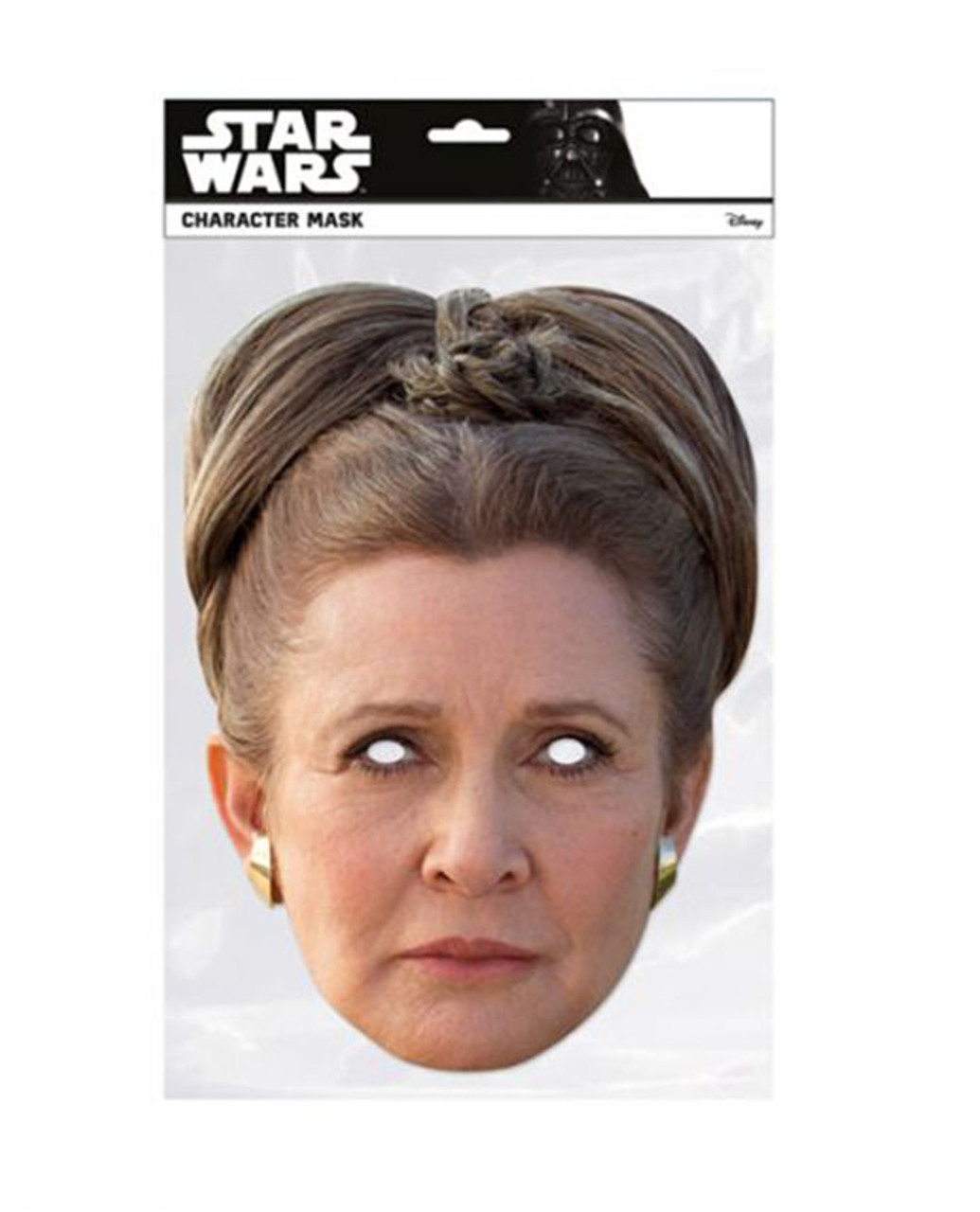Princess Leia Organa The Last Jedi Single 2d Card Party Face Mask