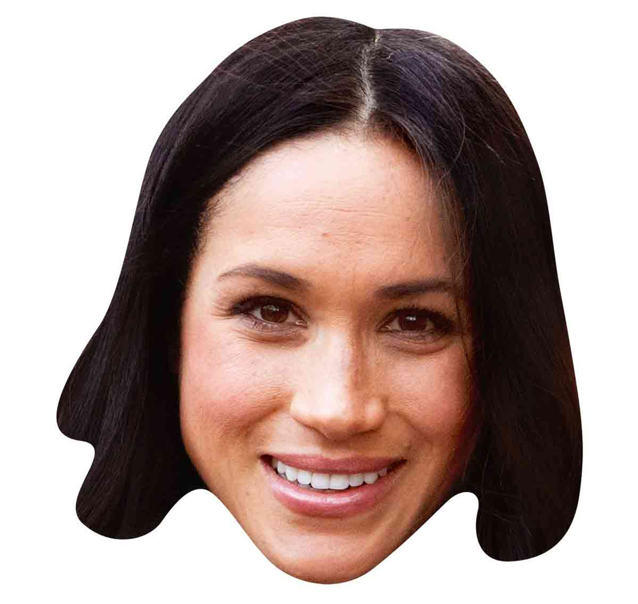 picture regarding Donald Trump Mask Printable named Meghan Markle 2D Solitary Royal Card Occasion Facial area Mask