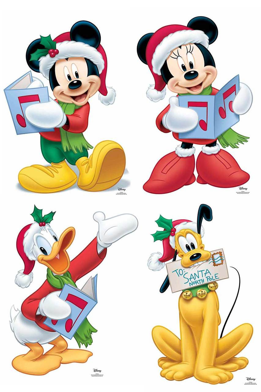 Christmas Cutouts.Mickey Mouse And Friends Christmas Official Disney Cardboard Cutout Set Of 4