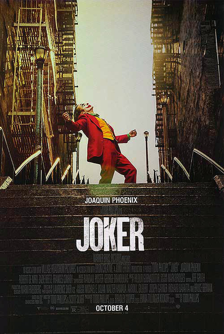 joker poster movie final posters steps stencil sided current double list