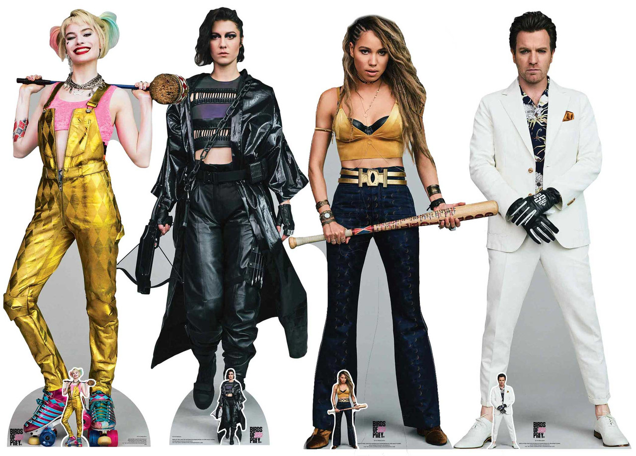 Birds Of Prey Lifesize Cardboard Cutout Collection Set Of 4 Dc Comics Characters