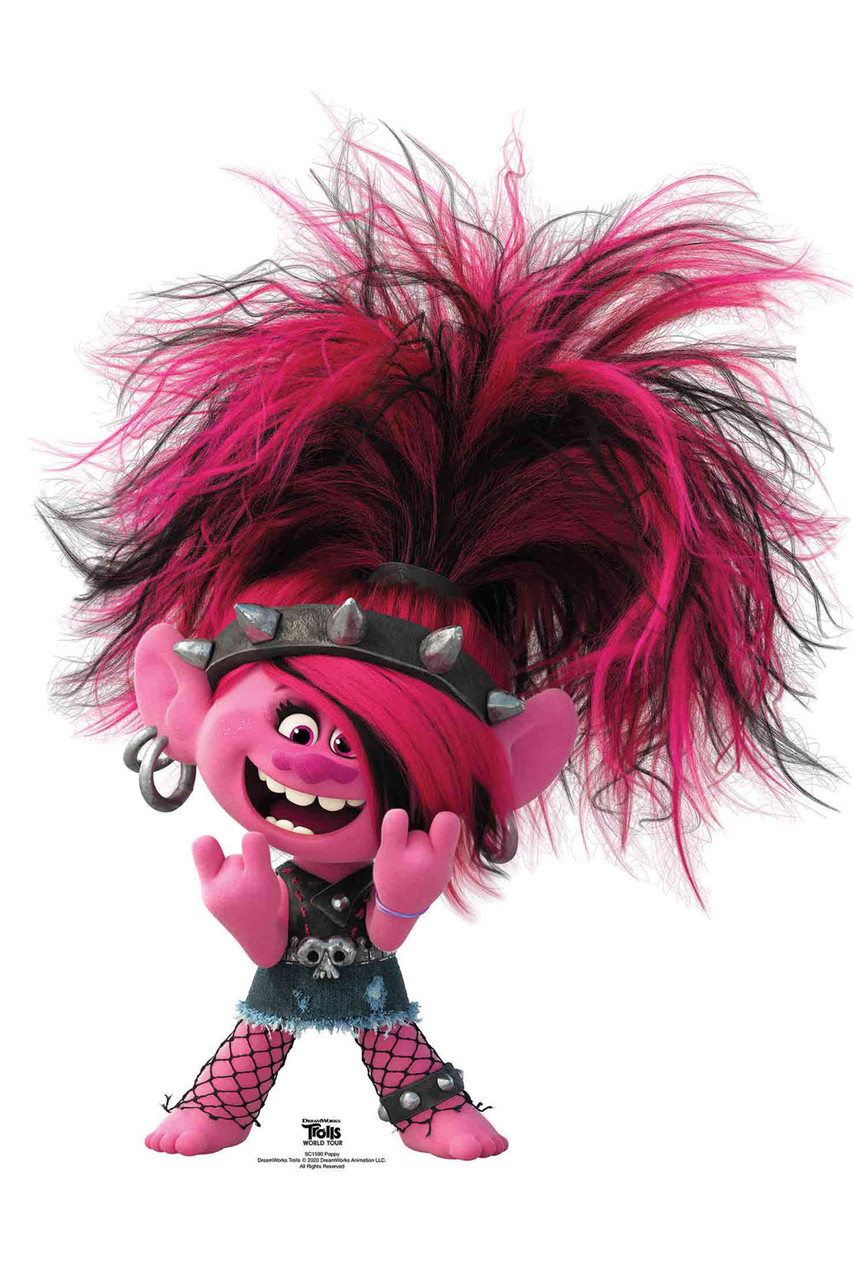 Princess Poppy Punk Troll Official Trolls World Tour ...