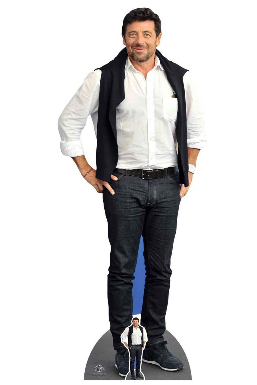 Patrick Bruel French Singer Casual Style Lifesize Cardboard Cutout