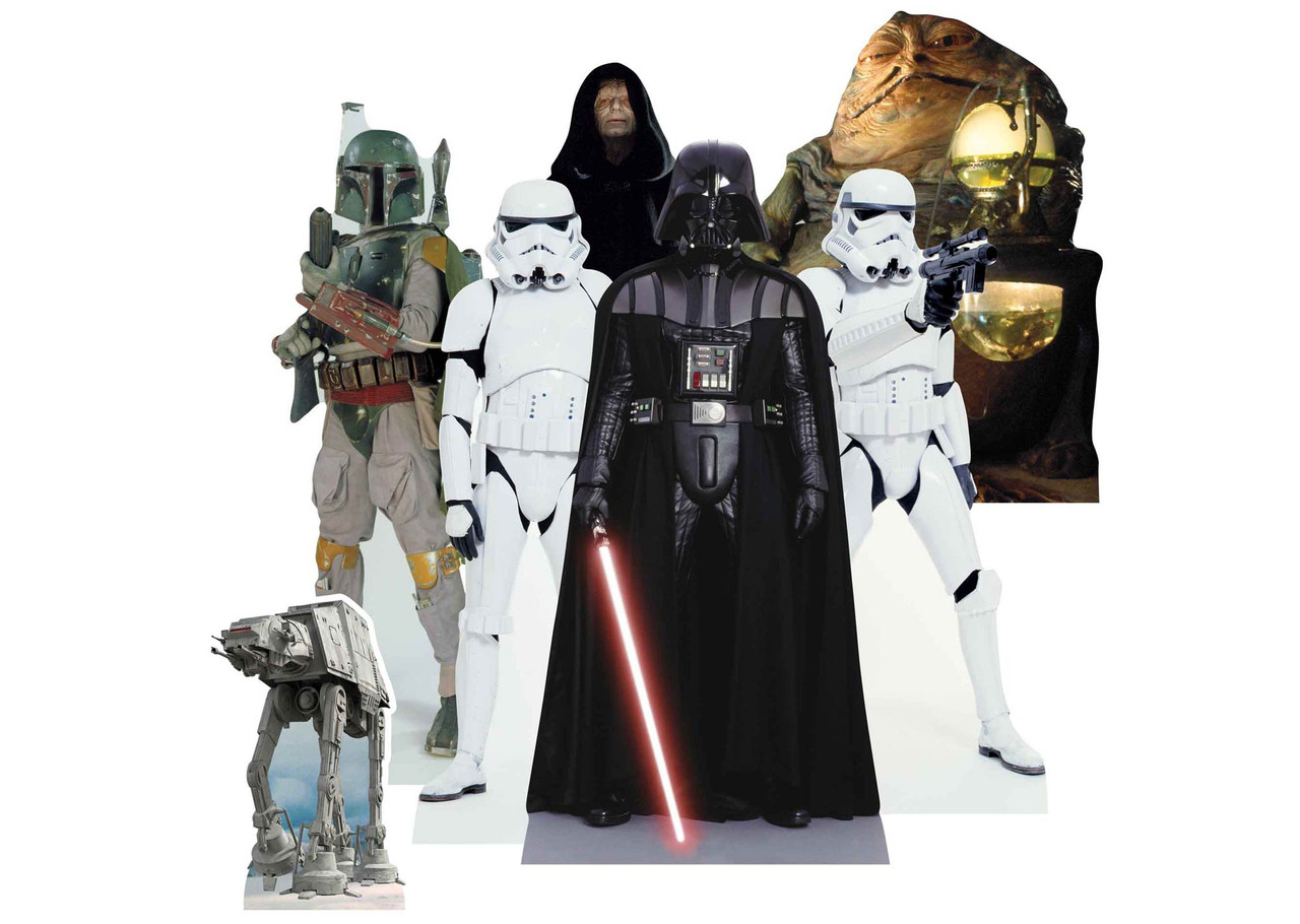 DARTH VADER AND YODA STAR WARS LIFESIZE CARDBOARD STAND CUTOUTS VILLAIN AND HERO
