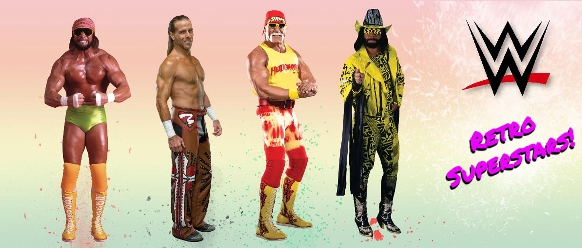 WWE Cardboard Cutouts of Retro Superstars