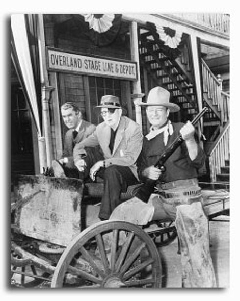 (SS2246816) John Wayne, John Ford, James Stewart Movie Photo