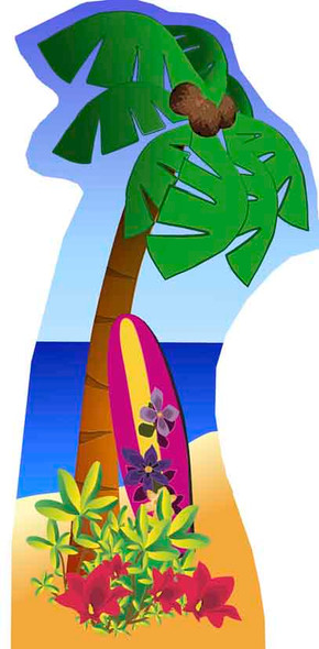 Palm Tree (Beach Party) - Lifesize Cardboard Cutout / Standee