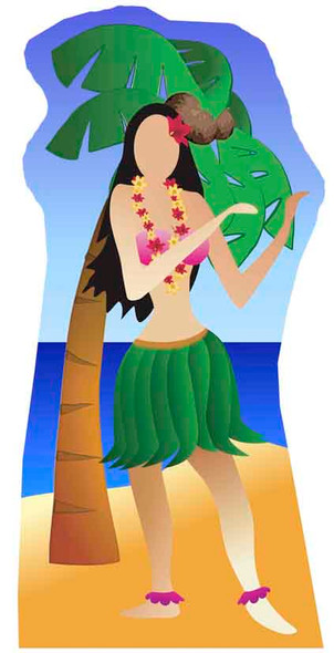 Hula Girl Stand-in (Beach Party) - Lifesize Cardboard Cutout / Standee