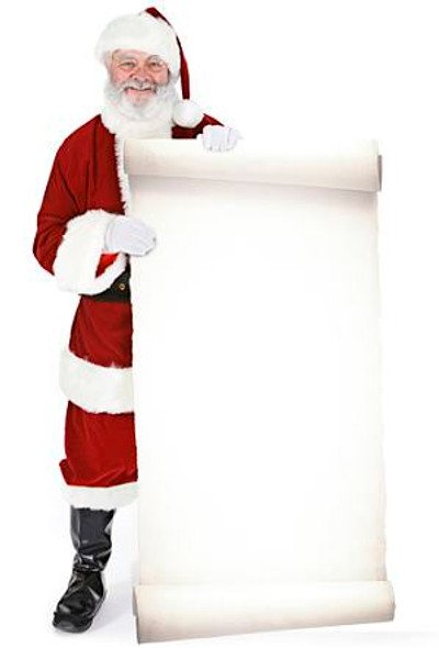 Santa with Large Sign (Christmas) - Lifesize Cardboard Cutout / Standee