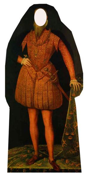 Tudor Man Stand in Cardboard Cutout