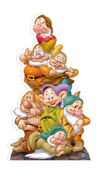 Seven Dwarves Disney Cutout
