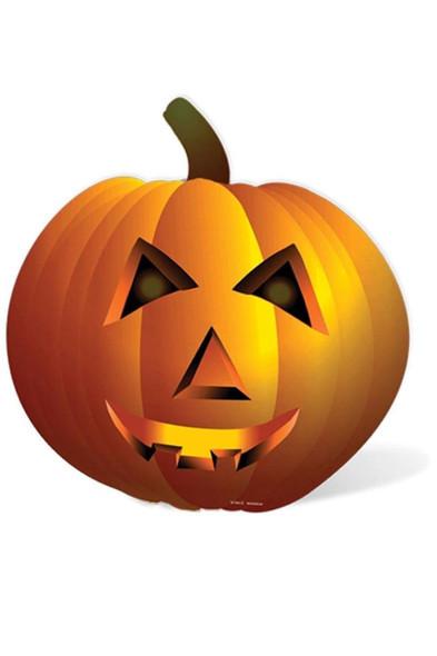 Pumpkin / Jack O'Lantern Giant Cardboard Cutout / Standup