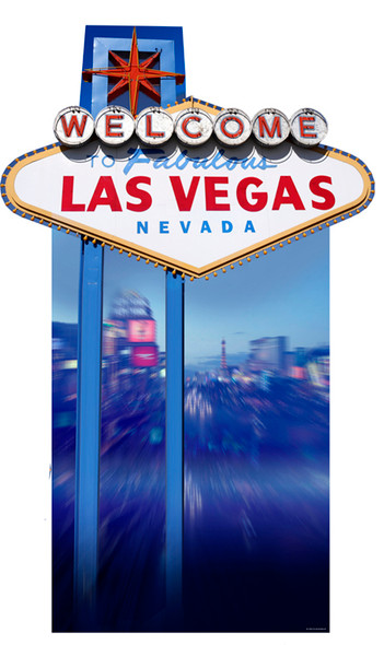 Vegas Sign (Poker Night) - Lifesize Cardboard Cutout / Standee
