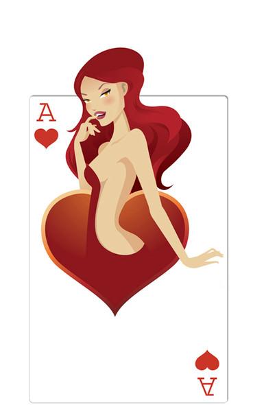 Hearts Babe (Poker Night) - Lifesize Cardboard Cutout / Standee