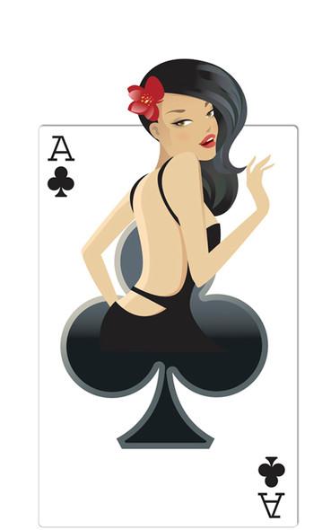 Clubs Babe (Poker Night) - Lifesize Cardboard Cutout / Standee