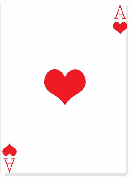 Ace of Hearts (Poker Night) - Lifesize Cardboard Cutout / Standee