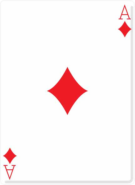 Ace Of Diamonds Cutout