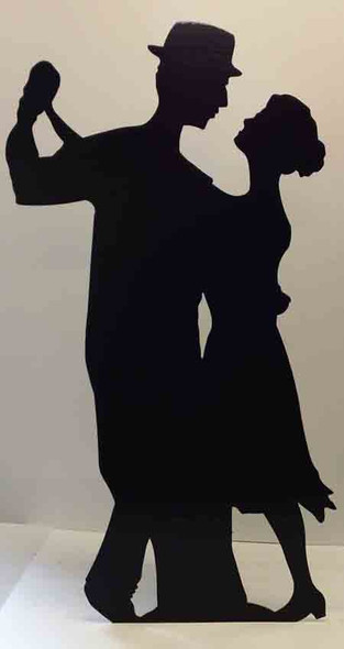 Salsa Dancer (Silhouette) (Party Prop) - Lifesize Cardboard Cutout / Standee