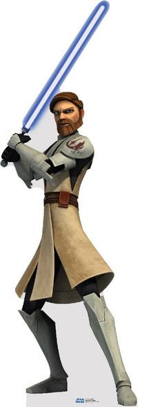 Obi Wan Kenobi  (Star Wars Clone Wars) - Lifesize Cardboard Cutout / Standee