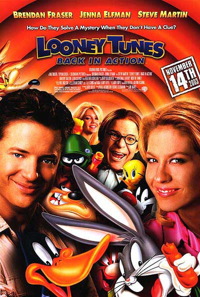 LOONEY TUNES: BACK IN ACTION (DOUBLE SIDED Regular) (2003) ORIGINAL CINEMA POSTER