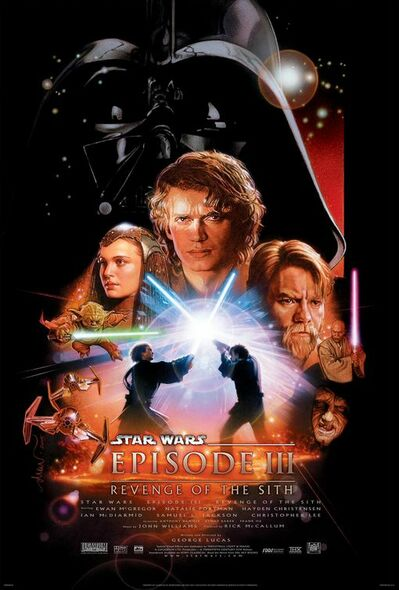 STAR WARS: EPISODE III - REVENGE OF THE SITH (SS REG RPT) (2005) REPRINT CINEMA POSTER