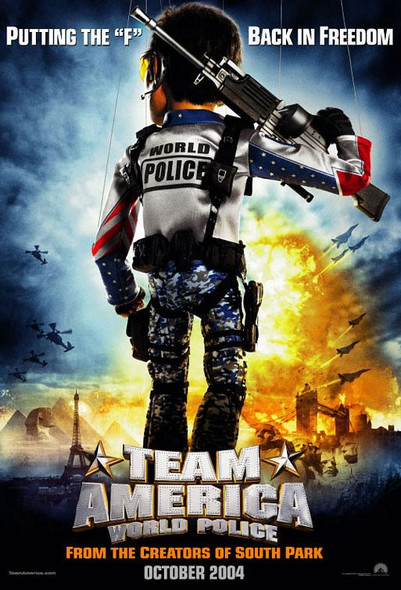 TEAM AMERICA (DOUBLE SIDED Advance) (2004) ORIGINAL CINEMA POSTER
