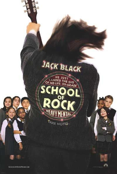 SCHOOL OF ROCK (DOUBLE SIDED Advance) (2003) ORIGINAL CINEMA POSTER