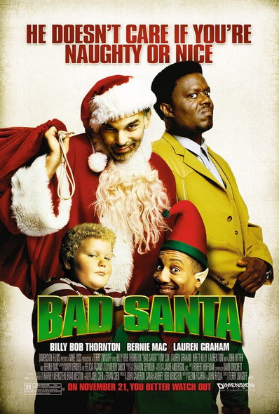 BAD SANTA (SINGLE SIDED Regular) (2003) ORIGINAL CINEMA POSTER