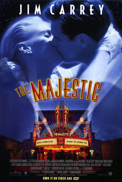 THE MAJESTIC (SINGLE SIDED Video) (2001) ORIGINAL CINEMA POSTER
