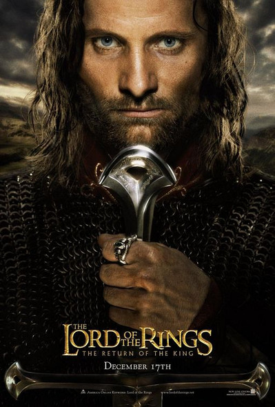 THE LORD OF THE RINGS: THE RETURN OF THE KING (DS ADV Style A) (2003) ORIGINAL CINEMA POSTER