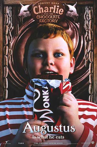 CHARLIE AND THE CHOCOLATE FACTORY (Augustus Mini) (2005) Original Mini CINEMA POSTER