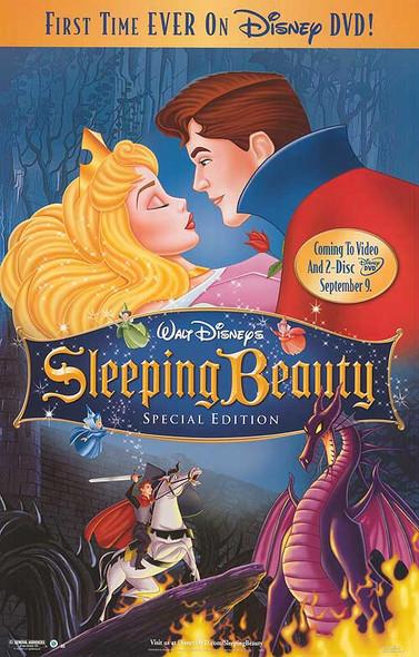 SLEEPING BEAUTY (SINGLE SIDED Video/DVD) (1959) ORIGINAL CINEMA POSTER