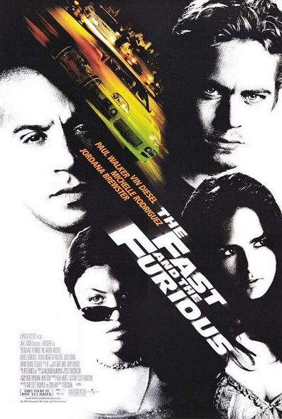 THE FAST AND THE FURIOUS (SINGLE SIDED) (2001) ORIGINAL CINEMA POSTER